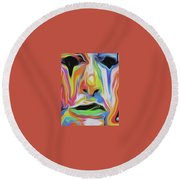 Tearful Clown Round Beach Towel