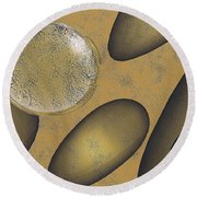 Tears Of Gold Round Beach Towel