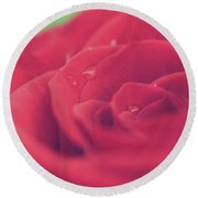 Tears Of Love Round Beach Towel by Laurie Search