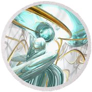 Teary Dreams Abstract Round Beach Towel