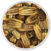 Teasel Seeds Round Beach Towel