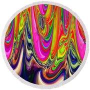 Technicolor Magma Round Beach Towel