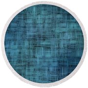 Technology Abstract Background Round Beach Towel