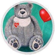 Teddy Bear Eli Round Beach Towel