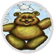 Teddy Bear Round Beach Towel