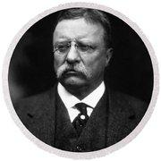 Teddy Roosevelt Round Beach Towel