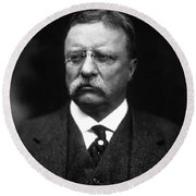 Teddy Roosevelt Round Beach Towel