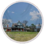 Teddy Roosevelts House - Sagamore Hill Round Beach Towel
