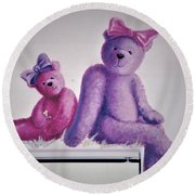 Teddy's Day Round Beach Towel