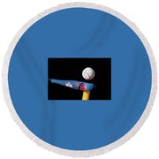 Tee Ball Round Beach Towel