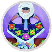 Tehuana Round Beach Towel