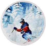 Telemark Trails Round Beach Towel