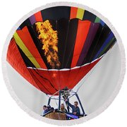 Temecula, Ca - Flames Over Wine Country Round Beach Towel