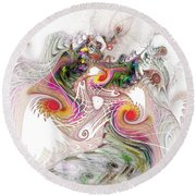 Tempest Round Beach Towel by NirvanaBlues