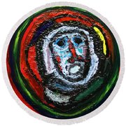 Tempest Of The Damned Round Beach Towel