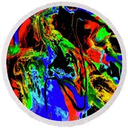 Tempest Of The Storm Round Beach Towel