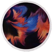 Tempest Round Beach Towel
