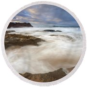 Tempestuous Sea Round Beach Towel