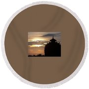Temple In India Round Beach Towel
