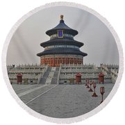 Temple Of Heaven Round Beach Towel