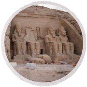 Temple Of Rameses II Round Beach Towel