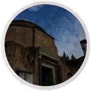 Temple Of Romulus Round Beach Towel