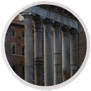 Temple Of Saturn Round Beach Towel
