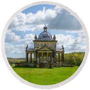 Temple Of The Four Winds Round Beach Towel