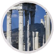 Temple Of Trajan View 1 Round Beach Towel