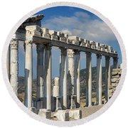 Temple Of Trajan View 3 Round Beach Towel