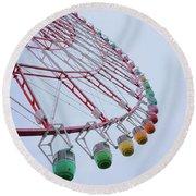 Tempozan Ferris Wheel Round Beach Towel