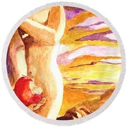 Temptation Round Beach Towel