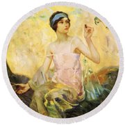 Tempting Sweets 1924 Round Beach Towel
