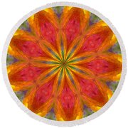 Ten Minute Art 090610-a Round Beach Towel