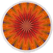 ten Minute Art 090610 Round Beach Towel