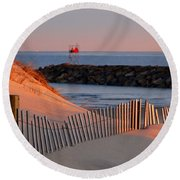 Tender Beach Light Round Beach Towel