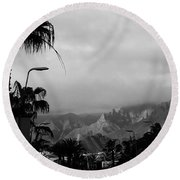 Tenerife Mountains Round Beach Towel