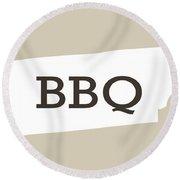 Tennessee Bbq Round Beach Towel