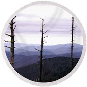 Tennessee Mountains Round Beach Towel
