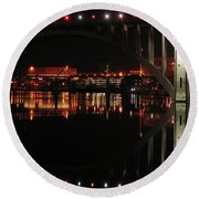 Tennessee River In Lights Round Beach Towel
