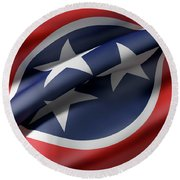 Tennessee State Flag Round Beach Towel