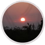 Tennessee Sunset Round Beach Towel