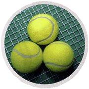 Tennis Anyone Round Beach Towel