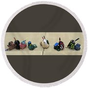Tennis Banner Round Beach Towel