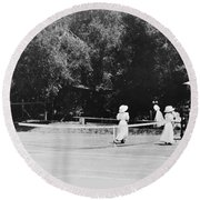 Tennis Champions Sutton And Hotchkiss Round Beach Towel