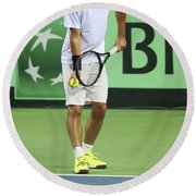 Tennis Player Round Beach Towel
