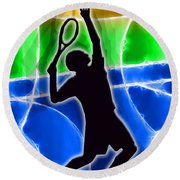 Tennis Round Beach Towel