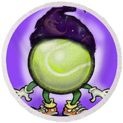 Tennis Wiz Round Beach Towel