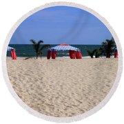 Tent Caravan Round Beach Towel