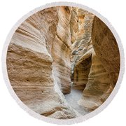 Tent Rocks Slot Canyon 2 - Tent Rocks National Monument New Mexico Round Beach Towel